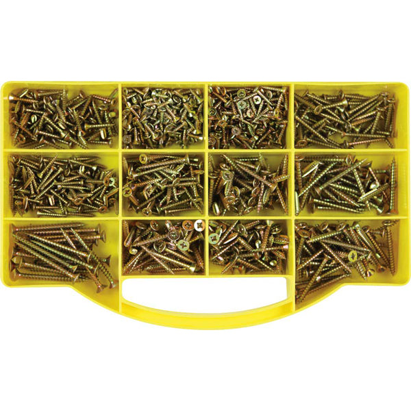 GJ GRAB KIT 900PC WOODSCREW ASSORTMENT KIT**