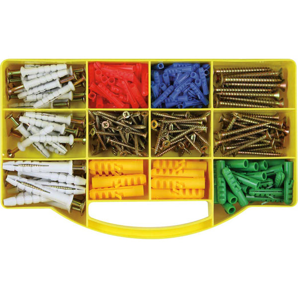 GJ GRAB KIT 315PC SCREWS, ANCHORS & WALLPLUG KIT**