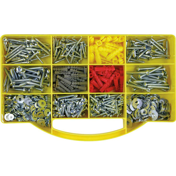 GJ GRAB KIT 770PC SCREWS, ANCHORS & WASHERS KIT**