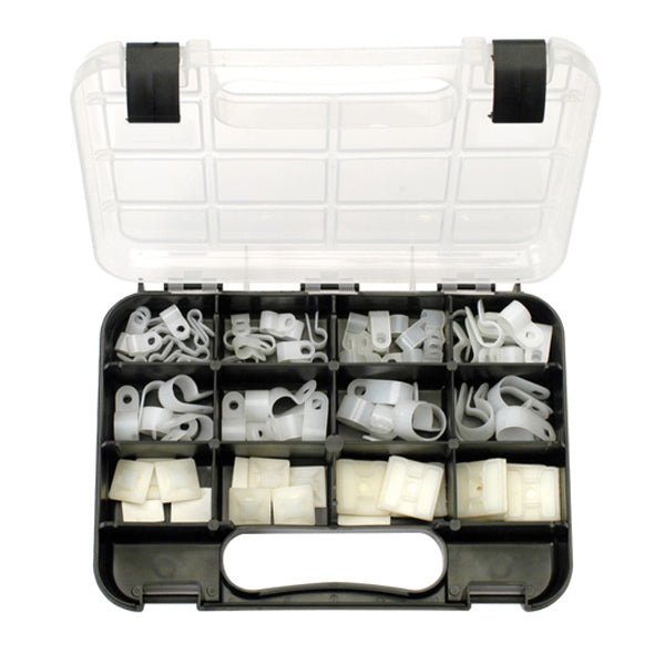 GJ GRAB KIT 80PC NYLON CABLE CLAMPS