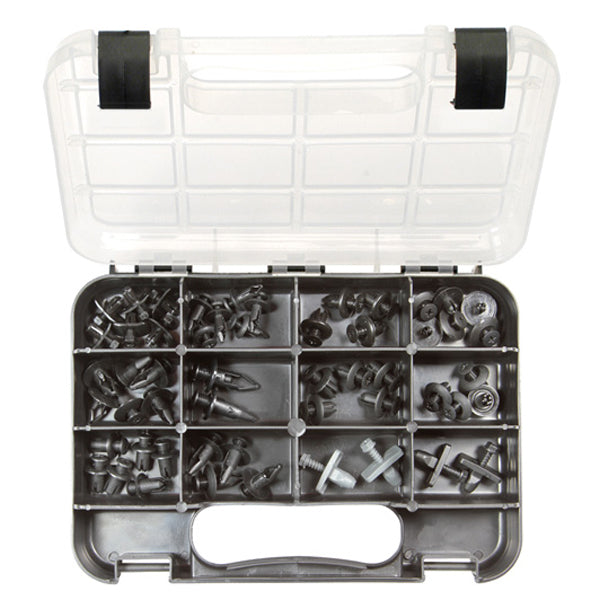 GJ GRAB KIT 62PC PLASTIC SCRIVET TRIM CLIPS