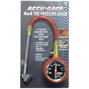 Strong Hand ACCU-GAGE? 11IN HD PRO 4X4 3-75PSI  DF CHUCK