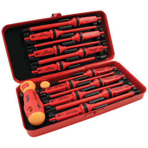 Felo 413 Ergonic E-slim Screwdriver Flat 4 x .8 x 100mm Insulated Hardened Tip