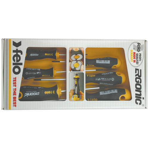 Felo 408 Series Ergonic Torx Screwdriver Set 6pc