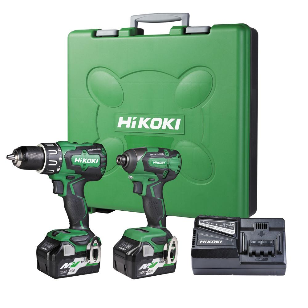 HiKOKI 18V Brushless Combo Kit - DV18DBSL+WH18DBSL+ Multi Volt Batteries