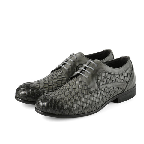 Bononia Woven Derby Shoes (Coal)