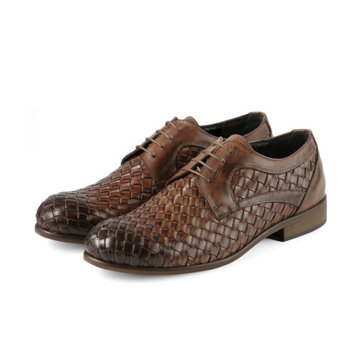 Bononia Woven Derby Shoes (Luggage)