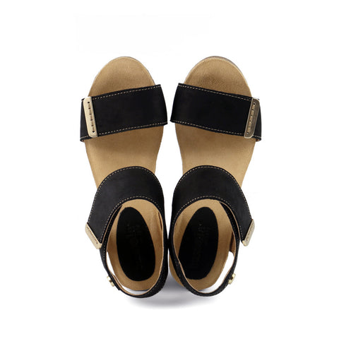 La Habana Wedge Sandals (Black)