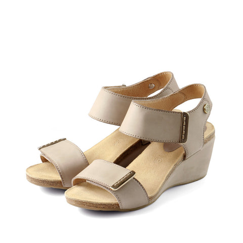 La Habana Wedge Sandals (Doeskin)