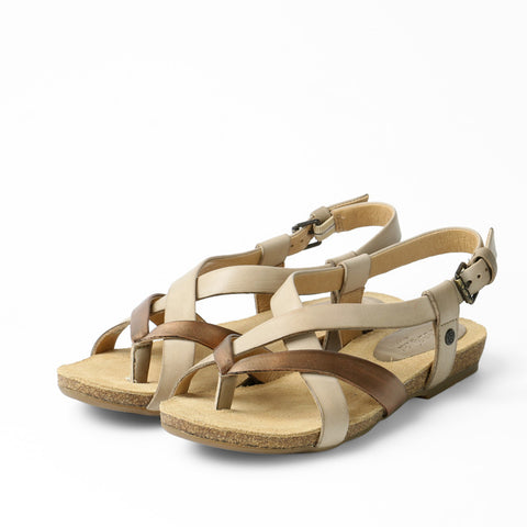 Maynila Flip-Flops Cross Strap Sandals (Doeskin)