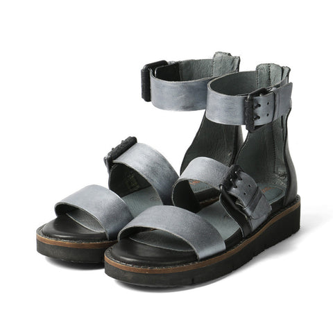 Nashville Gladiator Buckles Sandals (Antic Silver)