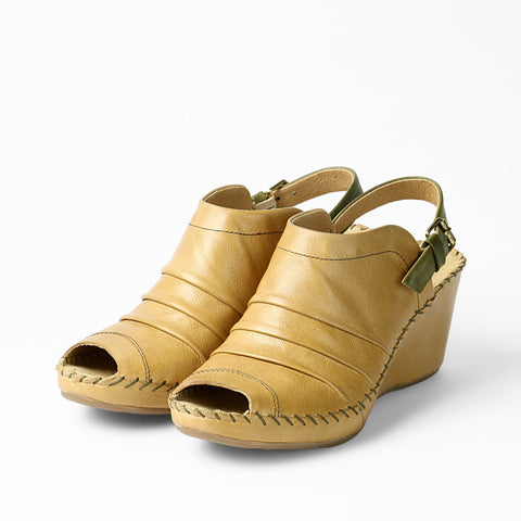 Baracoa Glove Wedge Sandals (Dune/Aloe)