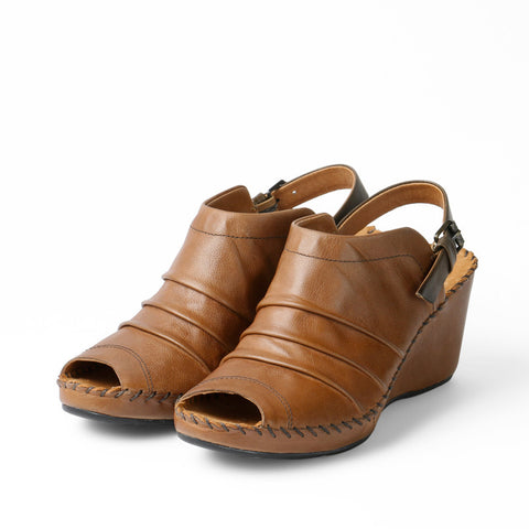 Baracoa Glove Wedge Sandals (Toffee/Choco)