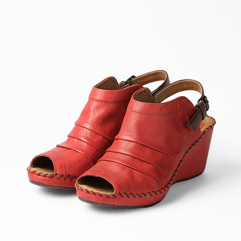 Baracoa Glove Wedge Sandals (Grenadine)