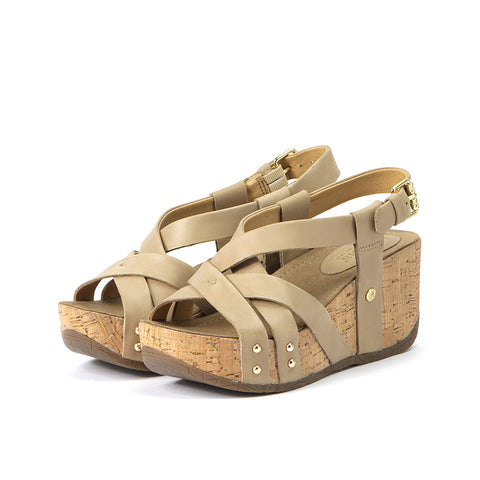 Formentera Cross Straps Wedge Sandals (Canapa)