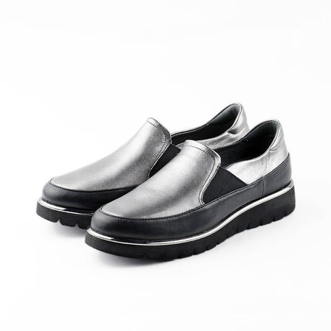 PRE-ORDER: Liverpool Slip-On Shoes (Black/Pewter)