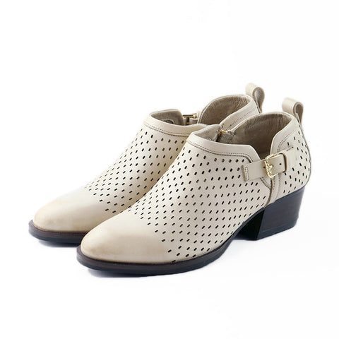 Alameda Perforated Ankle Booties (Doeskin)