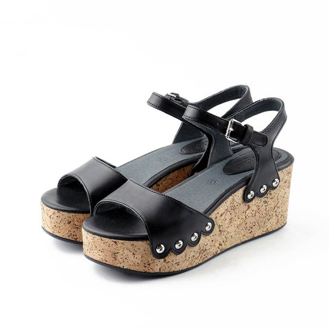 Mansfield Platform Wedges (Black)