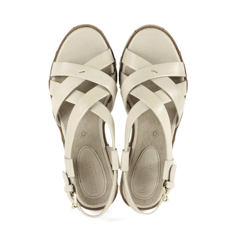 Bern Cross Strap Sandals (Brandy)