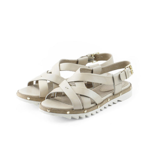 Bern Cross Strap Sandals (Doeskin)