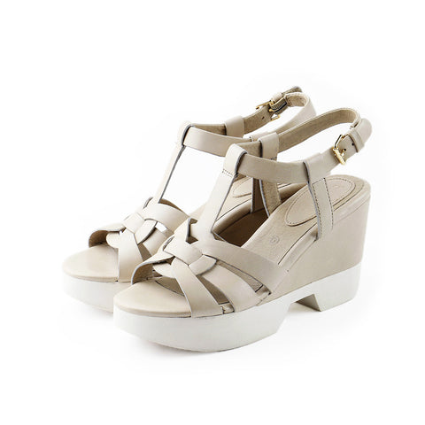Perugia T-Strap Wedges (Doeskin)