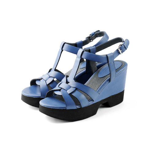 Perugia T-Strap Wedges (Imperial)