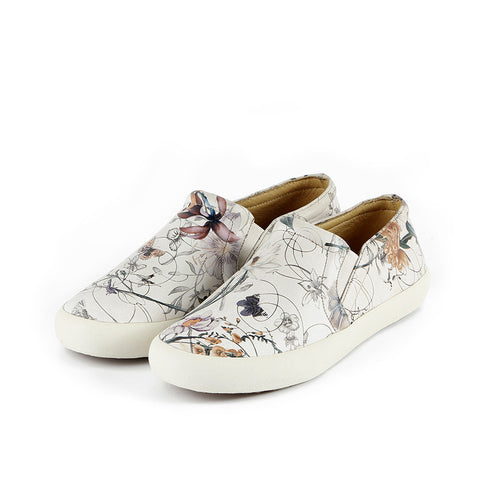Cardiff Slip-On Sneakers (Floral White)