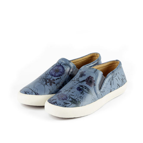 Cardiff Slip-On Sneakers (Floral Bluebell)
