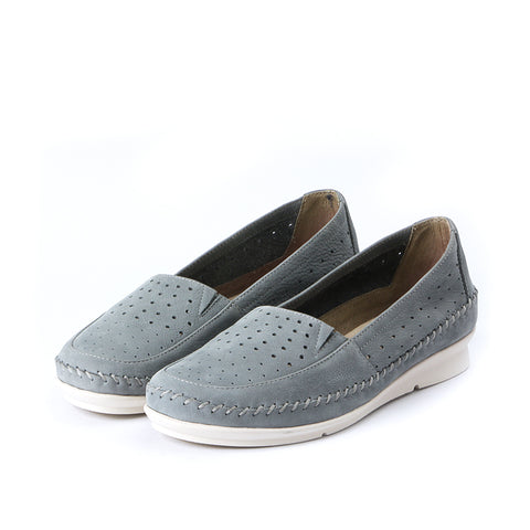 Coimbra Punched Slip-On (Baby Blue)