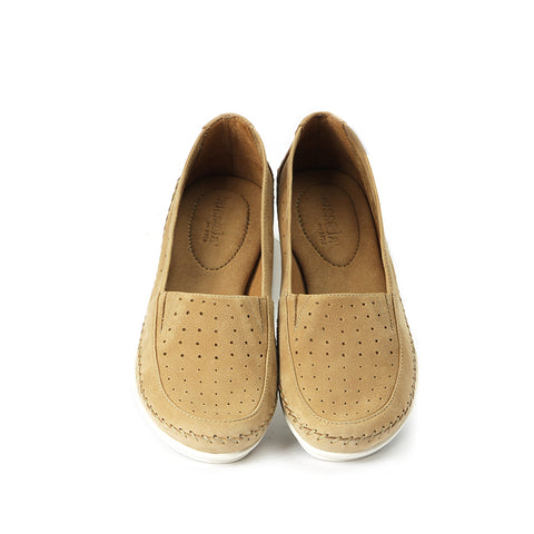 Coimbra Punched Slip-On (Camel)