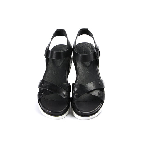 Potsdam Ankle Strap Sandals (Black)