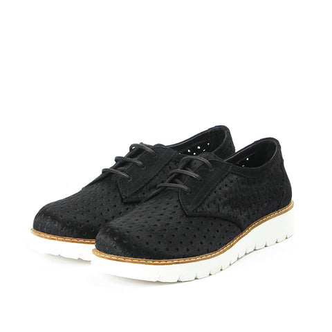 Liverpool Punched Derby Shoes (Black)