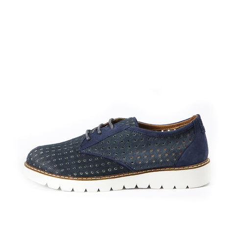 Liverpool Punched Derby Shoes (Indigo)