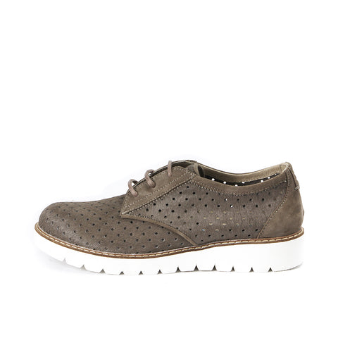 Liverpool Punched Derby Shoes (Taupe)