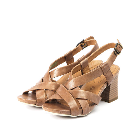 Martinique Cross Straps Sandals (Blush)