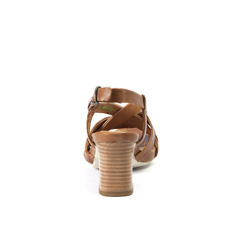 Martinique Cross Straps Sandals (Camel)