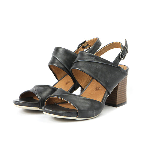 Martinique Slingback Sandals (Black)