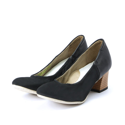 Barbados Block Heel Pumps (Black)
