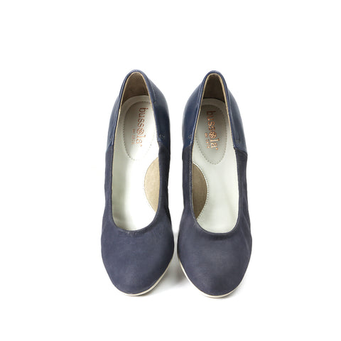 Barbados Block Heel Pumps (Indigo)