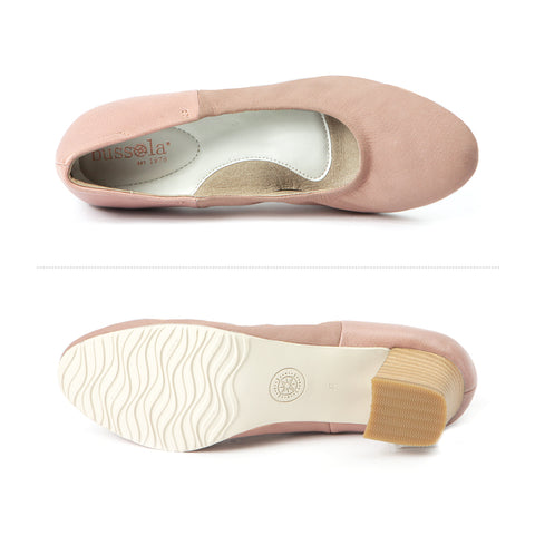 Barbados Block Heel Pumps (Blush)