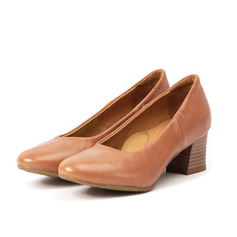 Barbados Block Heel Pumps (Betty Blush)