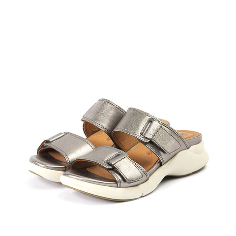 Jamaica Velcro Sandals (Pewter)