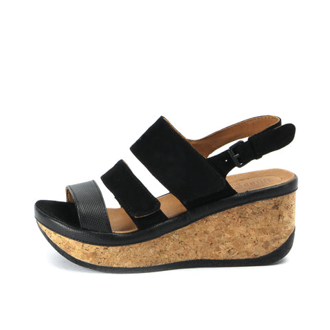 Final: Trinidad Velcro Wedge Sandals (Black)