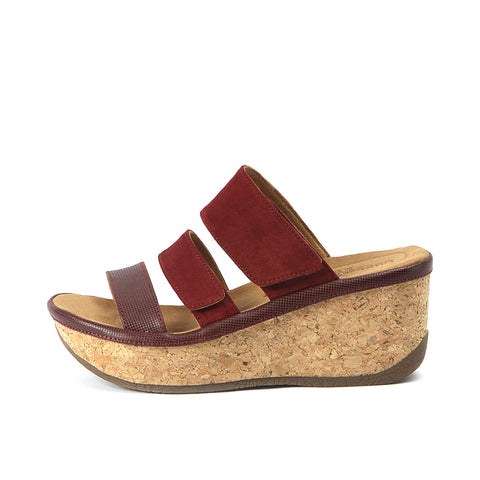 Trinidad Velcro Wedge Sandals (Saffron)