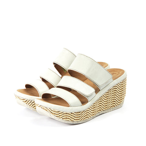Trinidad Velcro Wedge Sandals (Paper)