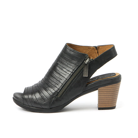 Lima Zipper Sandals (Black)