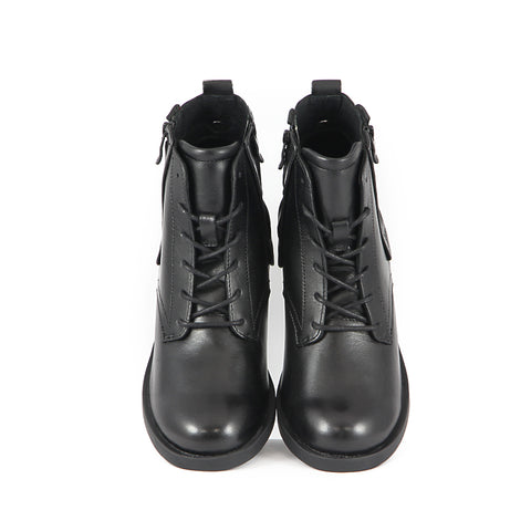Treviso Lace-Up Ankle Boots (Black)