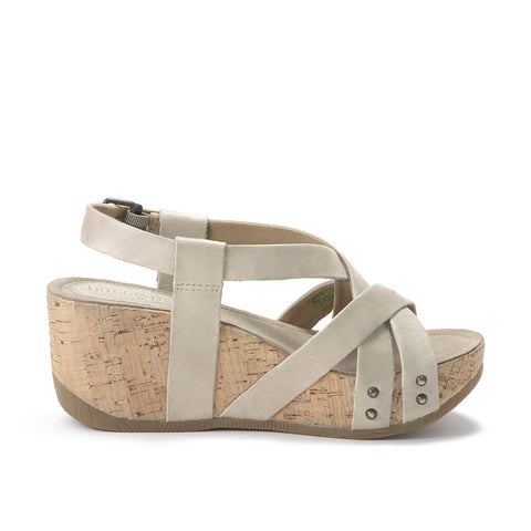 Formentera Cross Straps Wedge Sandals (Doeskin)