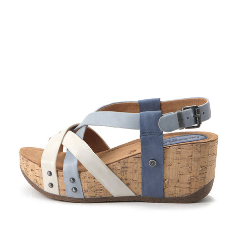 Formentera Cross Straps Wedge Sandals (Vapor/Jeans/Denim)