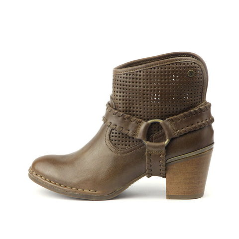 Woodville Western Ankle Boots (Wood)